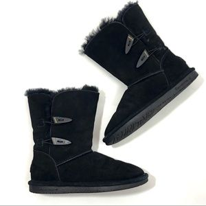 BEARPAW black sheepskin boots